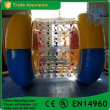 High quality Children floating inflatable clear walking water roller wheel for sale