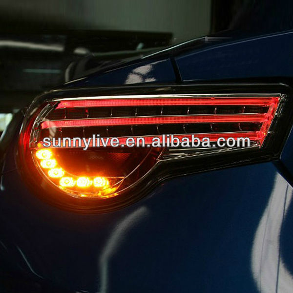 2013-2014 year TOYOTA GT86 FT86 LED Strip Taillight Black Color V9