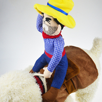 Pet Suit Cowboy Rider Style Dog Carrying Pet Dog Costume