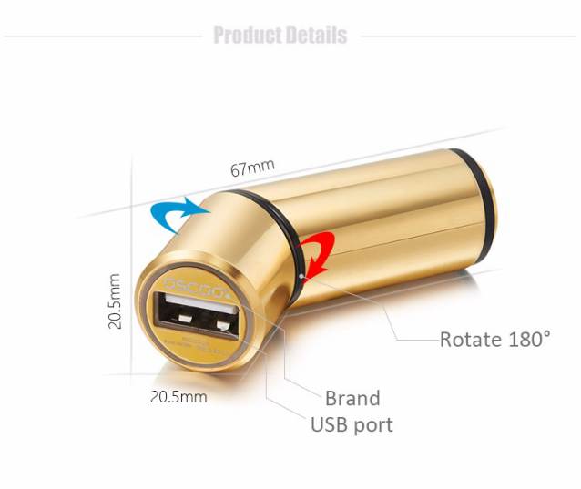 OSCOO wholesale portable charger best price portable usb car charger for phone and android