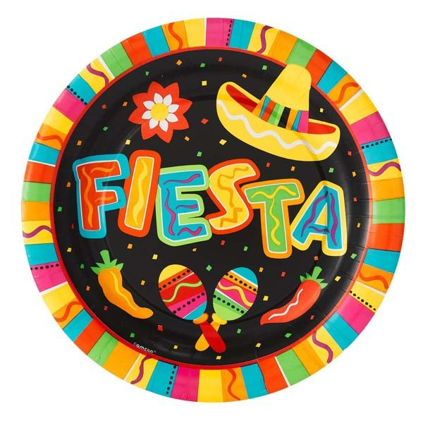 mexican party supplies of party plate