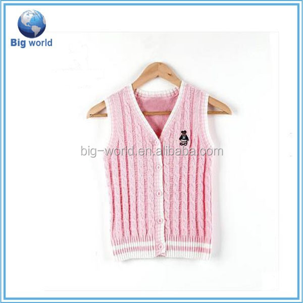 2015 Pop Knitted Cardigan Preppy Style, Sweater Vest For Girls
