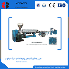 pet sheet strand pelletizing line/recycling machine/plastic flakes granulating machine