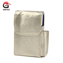 GERUI JL-157N Factory Cheaper Custom High-grade PU Leather Cigarette Holder Boxes Cigarette Cases