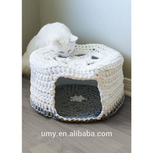 Crochet Pattern Acrylic Yarn Pet Cat Bed Cave House For Dog Pet Accessories Bed