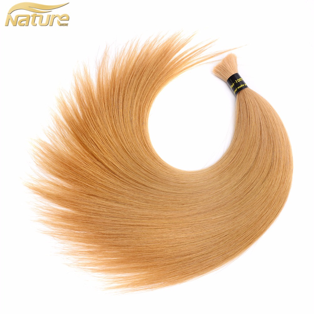 Best Quality Blonde European Human Hair Bulk Bleached Blonde #613 REAL Remy Human Bulk Hair Full Cuticle Aligned