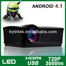 3000lumens Smart Android Wifi 1280x800 720P Multimedia Film Movie Computer HDMI HD LED LCD Video Digital 3D Projector