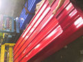 low price 0.18mm red trapezodial roofing sheet 1050mm factory/ full hard zinc roofing sheet/ color roofing sheet