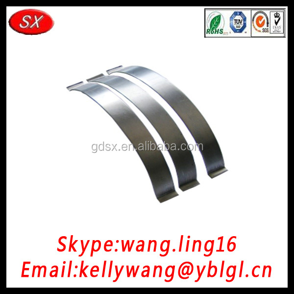 Dongguan custom spring steel small trailer leaf spring, leaf spring scania volvo,galvanized leaf springs