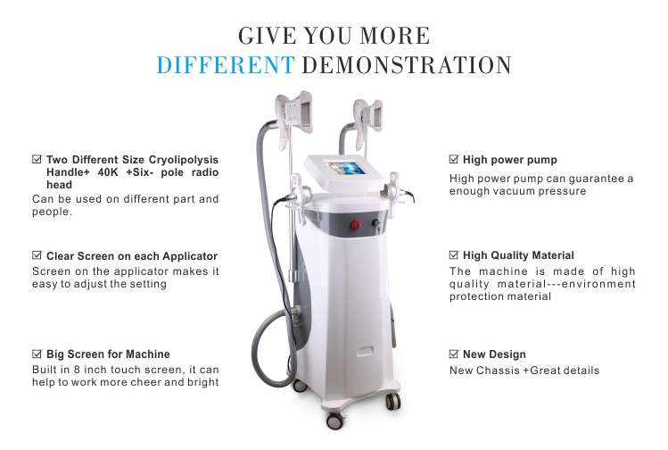 10 degree cool cryolipolysis for clinic use/lipo laser rf cavitation 40K cryolipolysis slimming machine