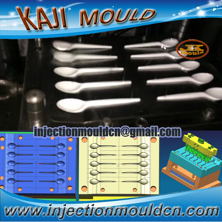 disposable ps white plastic spoon mould