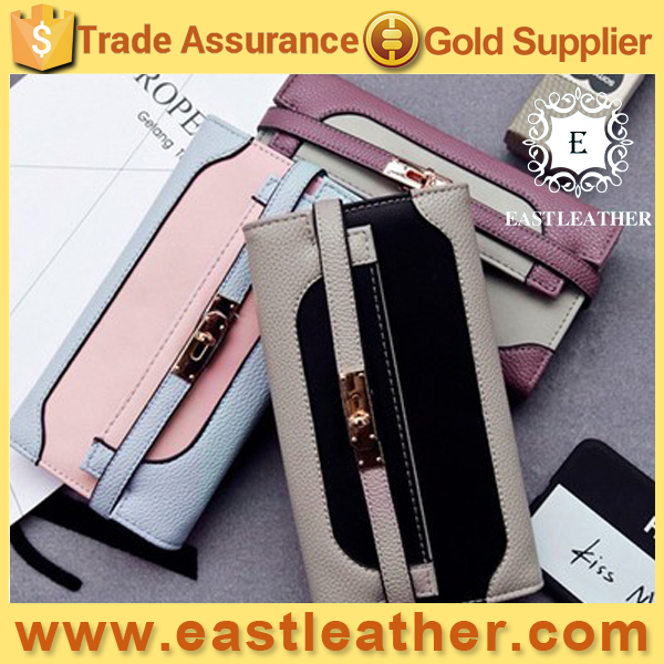 W219 New design fashion women leather wallet 2017 good selling purse