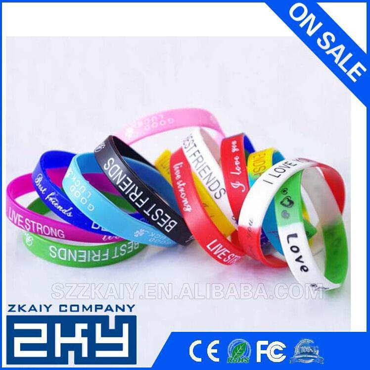 Sport Wrist Band/Promotional Custom Adjustable Cheap Silicon Wristband