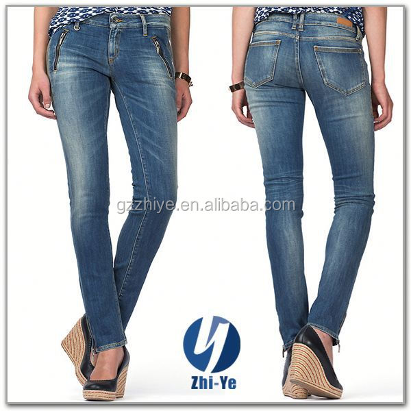 new fashion factory price wholesale skinny jeans for ladies
