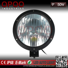 China 12v round 9 inch 50w led driving light for offroad trucks use