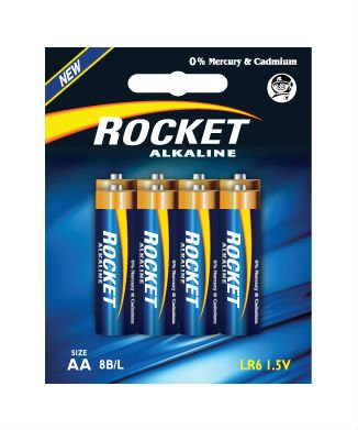LR6, AA size,8 Blister packing, Alkaline