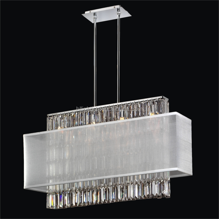 Modern new restaurant fabric design crystal led pendent lamp