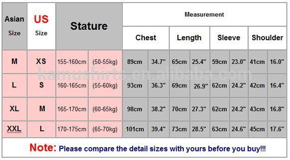 China sizes are different, so it's important to check the size chart before you start. You could convert the China sizes to yours by following charts, or you could submit a feedback and ask us. You could also check out the tips how to measure at the end of the page.