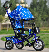cheap 4/1 push baby kids tricycle / three wheels kids Baby mother stroller tricycle with canopy/tricycle for sale in philippines