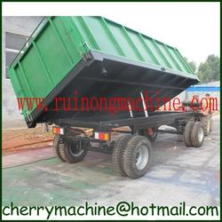 large capacity 8 ton high hurdle three side tipping trailer with air brake