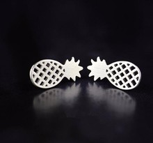 Fashion Jewelry Earring With Simple Cute silver Pineapple Earrings Studs