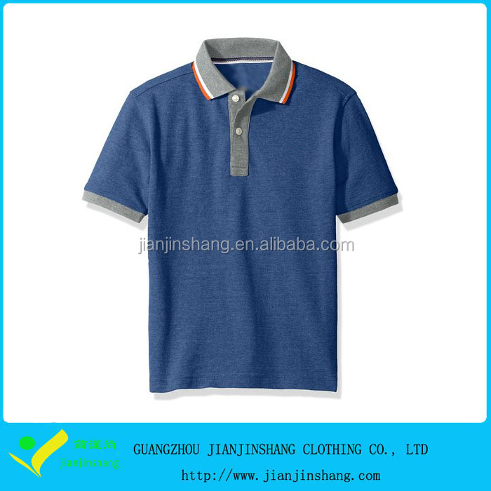 2016 Promotion boys comfortable polo t shirts
