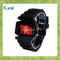 2015 hot selling seven color Led Digital men Silicone Wristbands Watch