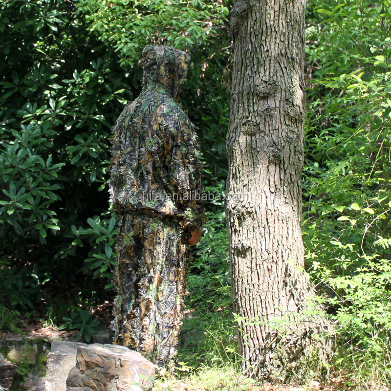Durable 3D Maple leaf Ghillie Suit Hunting camouflage suit yowie blind suit