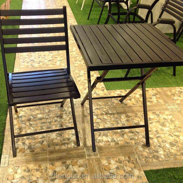 Yes fold plastic wood garden chairs picnic chairs and table set