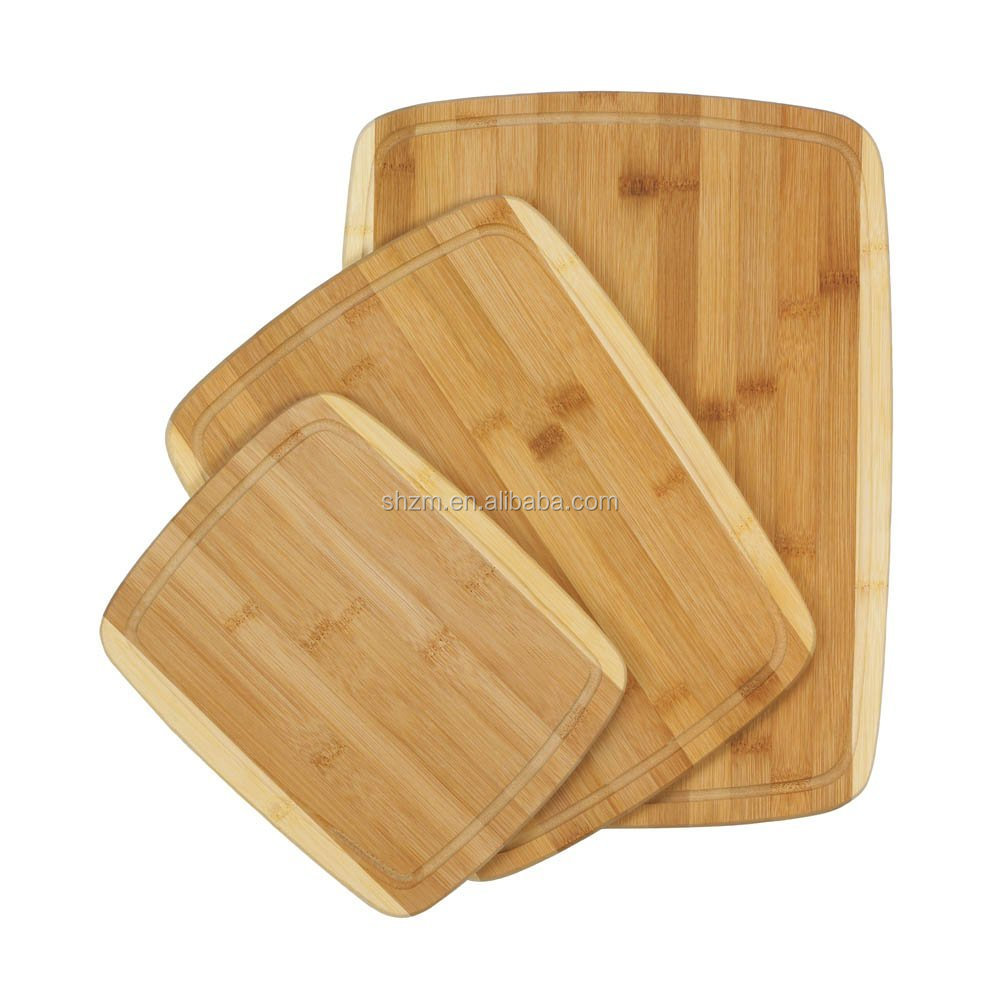 3 Piece Bamboo Cheese Cutting Board Set Perfect For Meat & Veggie Prep, Serve Bread, Crackers & Cheese