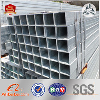 High Quality Construction Material ASTM A53 Galvanized Steel Square Pipe GI Squre Steel Tubes Zn coating 60-400g/m2