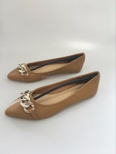 TAN color ballrina shoe for lady