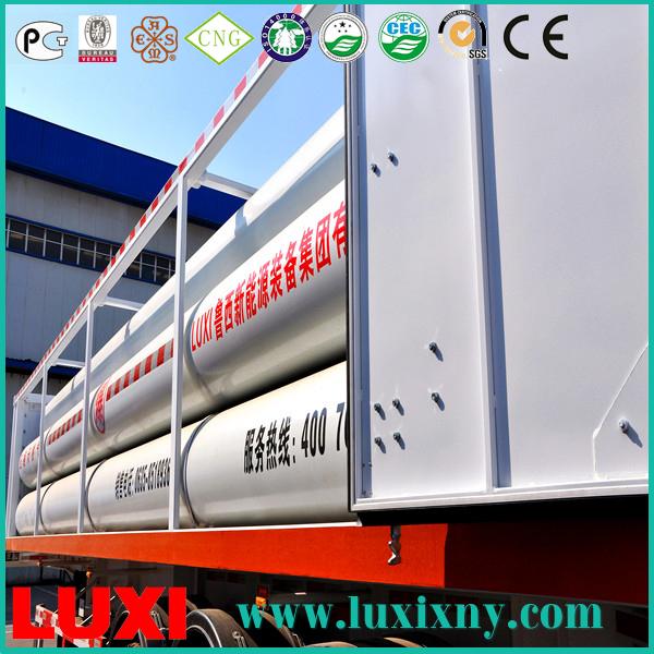 iso cng jumbo tube 25Mpa cng tube trailer gas fuel tanks , cng gas cylinders manufacturer