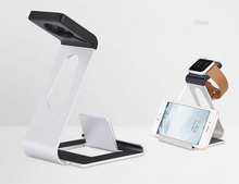 Custom Logo Aluminum Alloy Watch Charging Dock Moblie Phone Holder Station Docking Station stand for iPhone/Watch