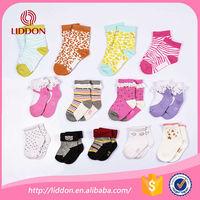 Knitting cosy slipper cotton socks wholesale different pattern jacquard unique design bulk baby running boot socks