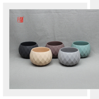 Ceramic Succulent Plant Pot with Diamond Shape