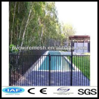 wrought iron ornamental garden fence railings, swimmg pool fence, metal gates and fence