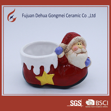 ceramic small balcony flower pot for xmas shoes