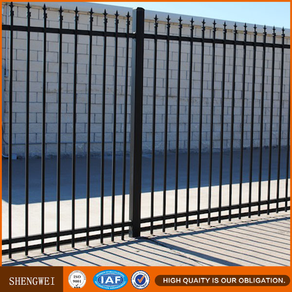Brazil wrought iron fence,fashional wrought iron picket fences,wrought metal spearhead fence