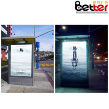 Bus Stop Standing Solar Light Box, LED Advertising Sign Box, Double Sides Scrolling Media