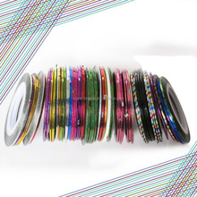 Professional 40 colors nail striping tape for nail art decoration nail tapes