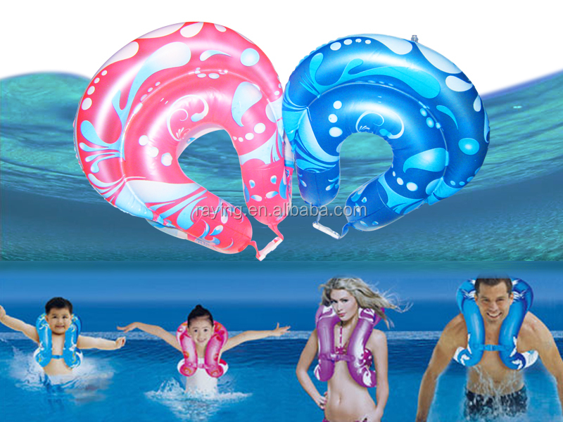 wholesale Raying Promotion durable plastic inflatable swimming pool float swimming ring