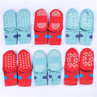 anti-slip custom wholesale silicon grip socks for baby