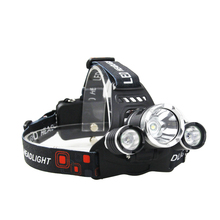 waterproof 6000 lumen 18650 rechargeable led headlamp for camping