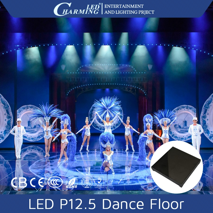 Interactive club/wedding/disco stage floor /light up dance floor for sale in China manufacturer