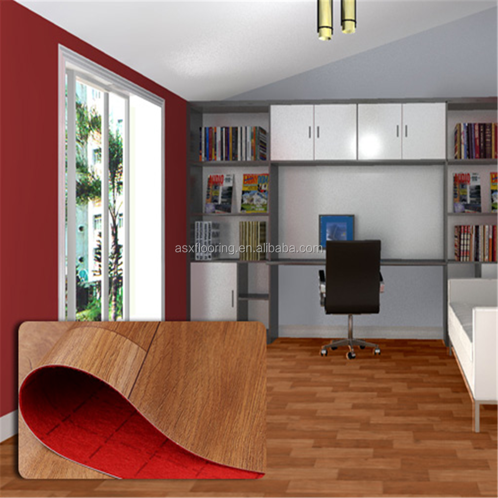 Stain Resistance Indoor Usage High Quality PVC Linoleum Flooring Rolls