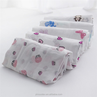 Wholesale baby blanket cotton printed muslin baby fabric