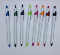 Cheap promotion gift simple press plastic ballpoint pen for advertising