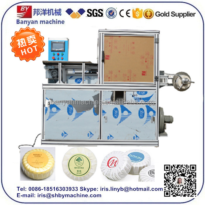 Automatic packaging machine pleat soap wrapping machine
