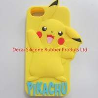 beautiful silicone anime phone case with personalized pack